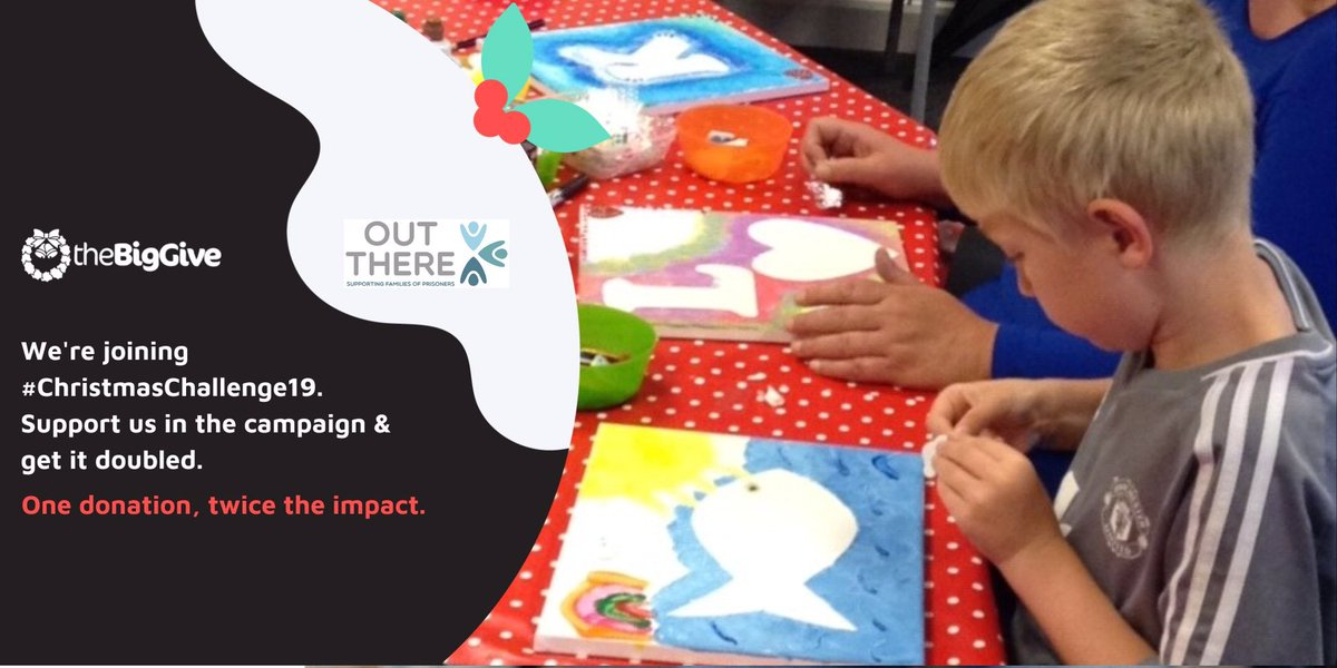 This #GivingTuesday it's time to make a big difference to our work with the children & familes of prisoners- please support us through @BigGive #ChristmasChallenge19 one donation, twice the impact donate.thebiggive.org.uk/campaign/a051r…