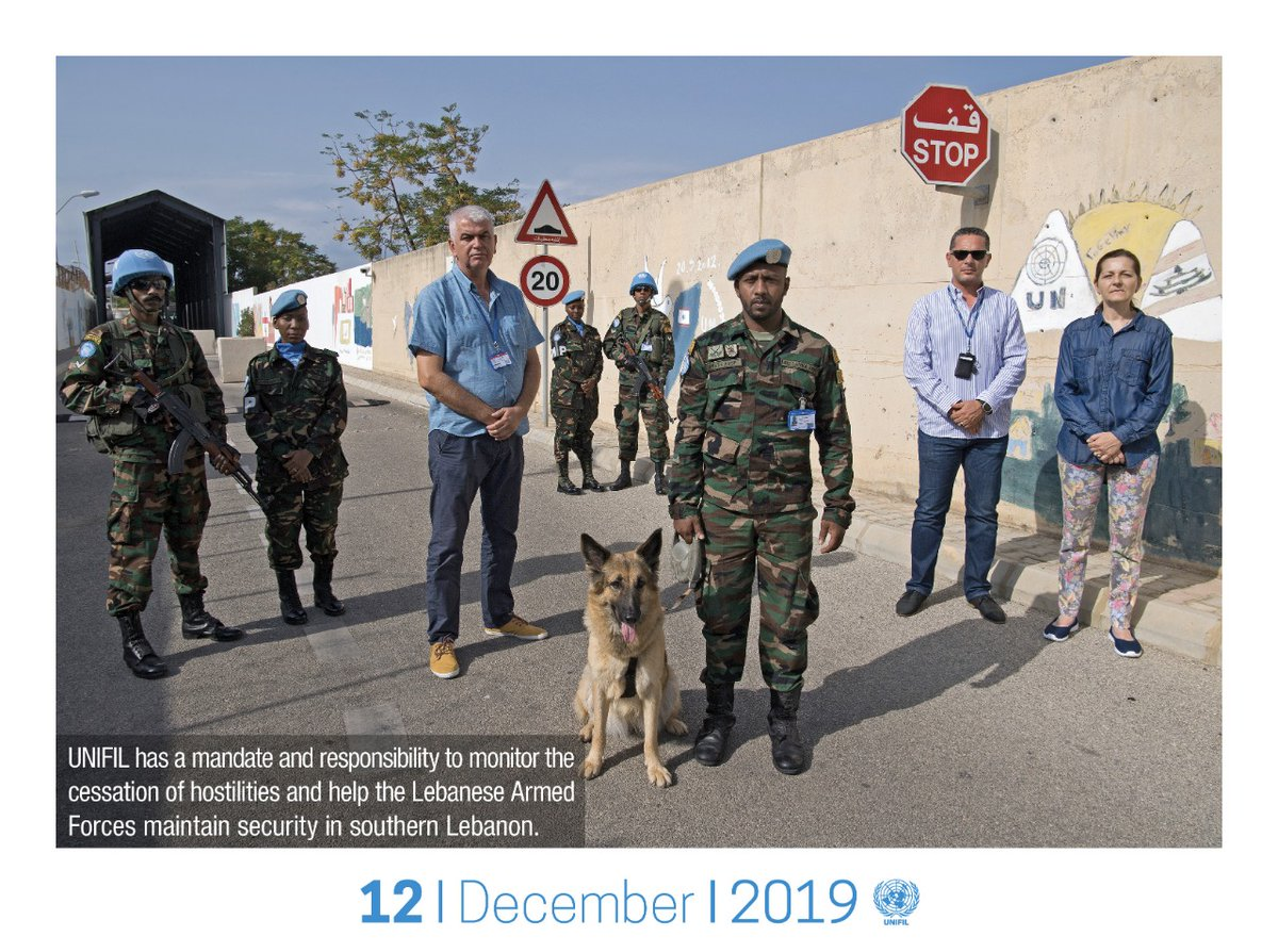 #UNIFIL has a mandate and responsibility to monitor the cessation of hostilities and help the Lebanese Armed Forces @LebarmyOfficial maintain security in southern #Lebanon. Download December 2019 #calendar page in En: https://bit.ly/37YSu0w Ar: https://bit.ly/2r7K4Dm #A4P