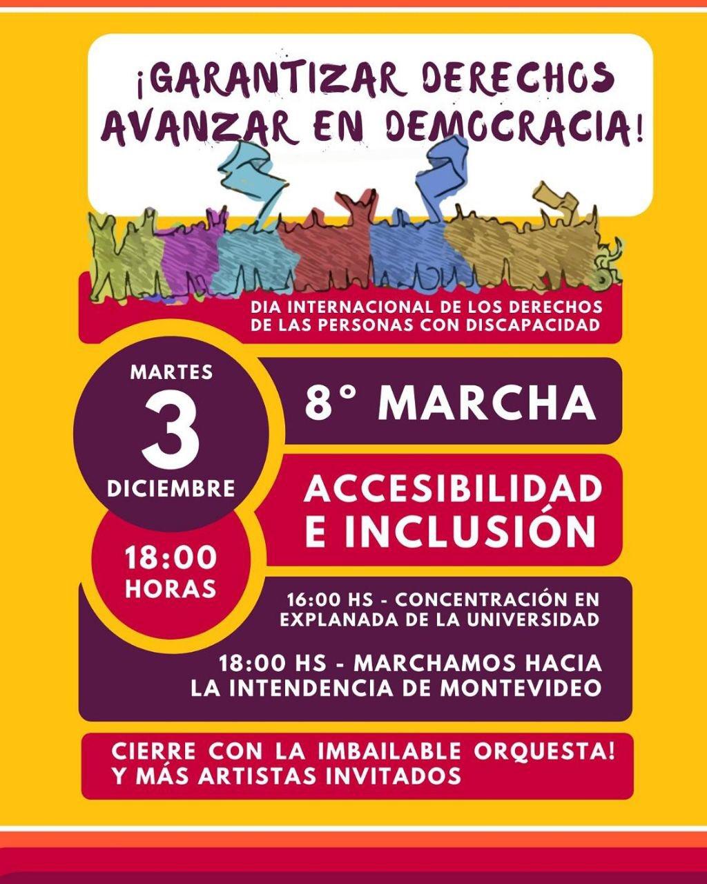 Afiche que convoca a la marcha