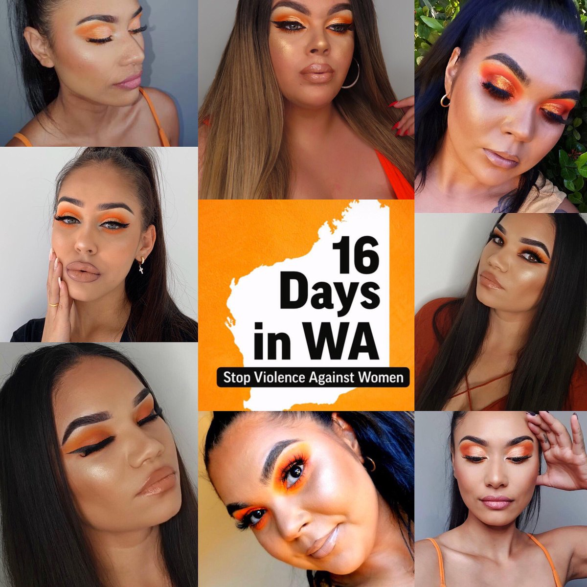 As sisters, as women, with or without stories or experiences of our own we stand together to support and give awareness to STOPPING the violence against women   #16daysinwatostopviolenceagainstwomen #eyemakeuplook #supportingwomen #stopviolenceagainstwomen #wearequeenspic.twitter.com/4nNdZ3XZC5