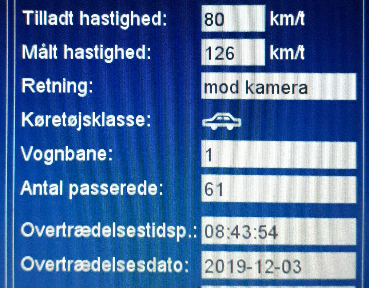 Hastigheder på op til 126km/t i 80zone blev i dag målt på et sted hvor en borger havde bestilt en ATK måling via Bestil en betjent. 24 sager ialt, 5 klip på Vinumvej ved Løgumkloster i Tønder kommune. Vi kommer igen, så sænk farten og hjælp alle #atkdk #politidk https://t.co/Bfup6fJbuI