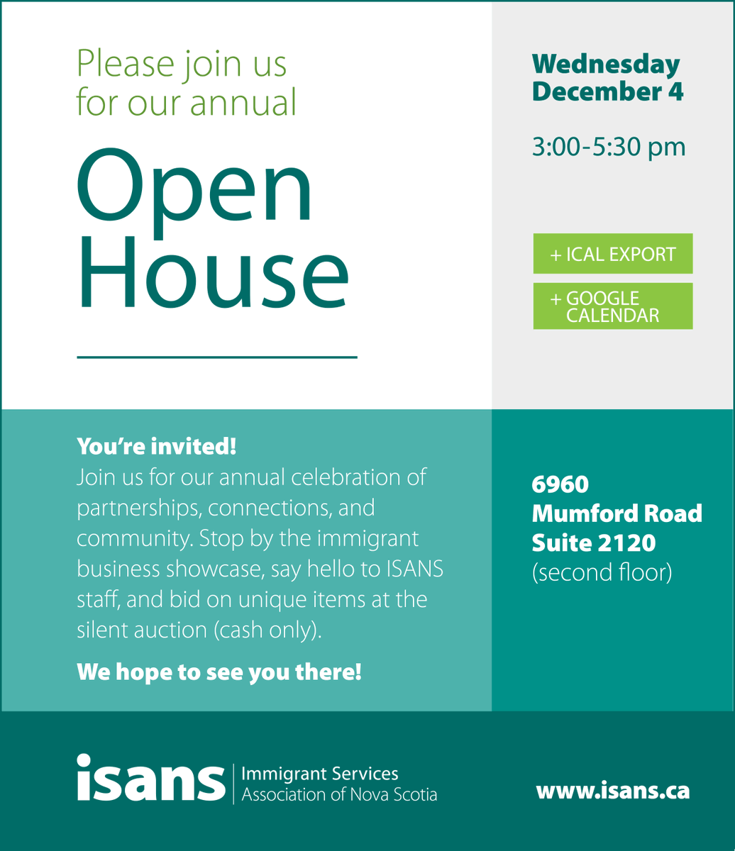 "ISANS on Twitter: ""TOMORROW, join us for our annual Open House! Come and  learn about ISANS programs and services and how you can get involved. Visit  our business marketplace, bid on that"
