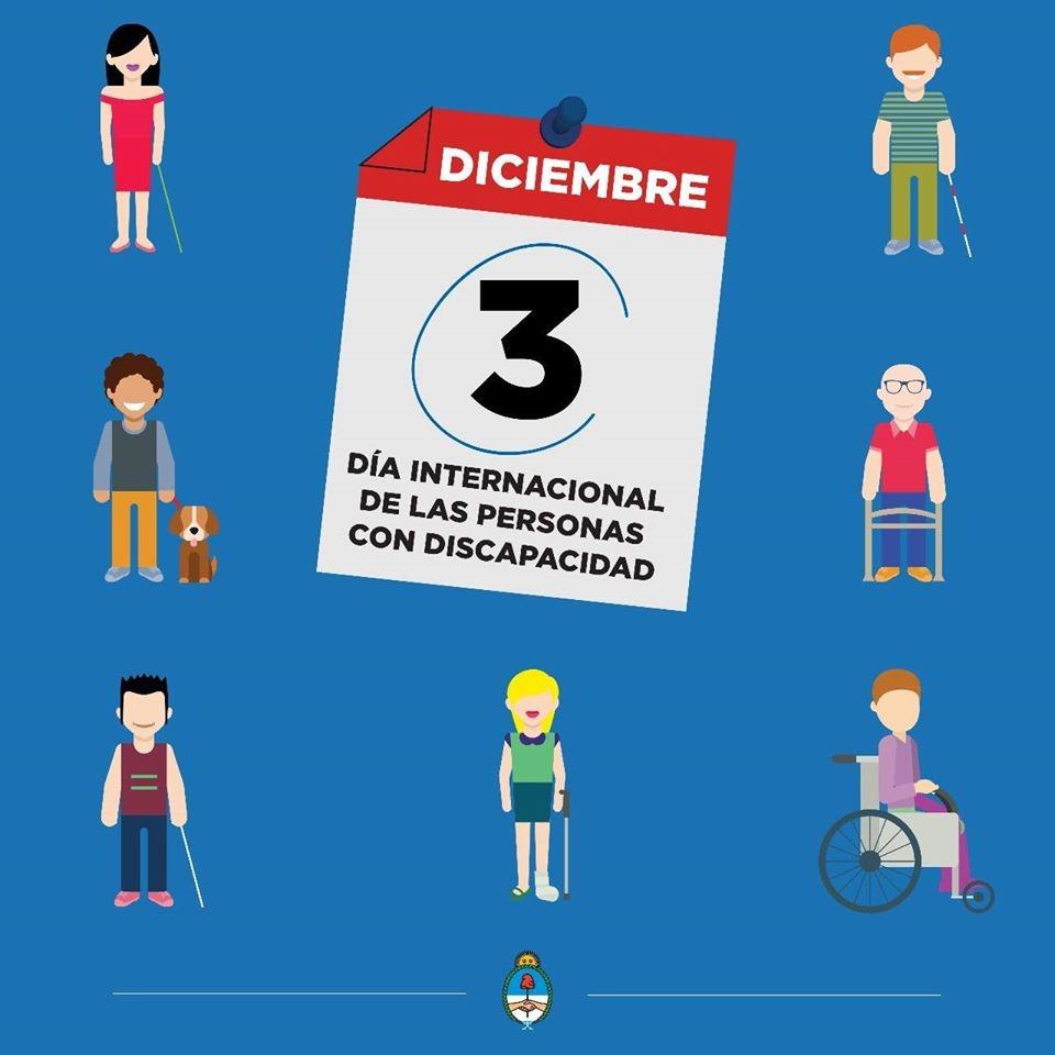 Sigamos construyendo entre todos una sociedad más inclusiva. Hoy, 3 de diciembre, se conmemora en todo el mundo el Día Internacional de las Personas con Discapacidad.♿ https://t.co/zOJLm0SAdp