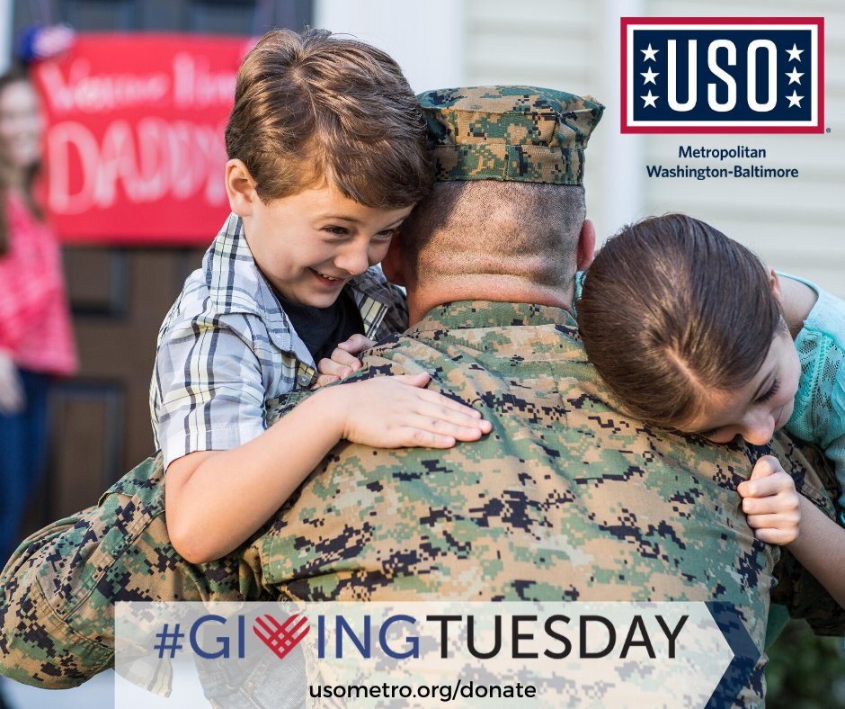 Join us in our mission to serve the military community this #GivingTuesday! A small gift can make a big difference when we all give together. Donate HERE: http://usometro.org/donate