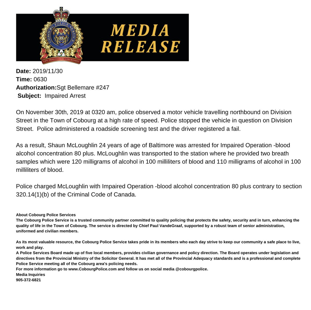 Media Tweets By Cobourg Police Cobourgpolice Twitter