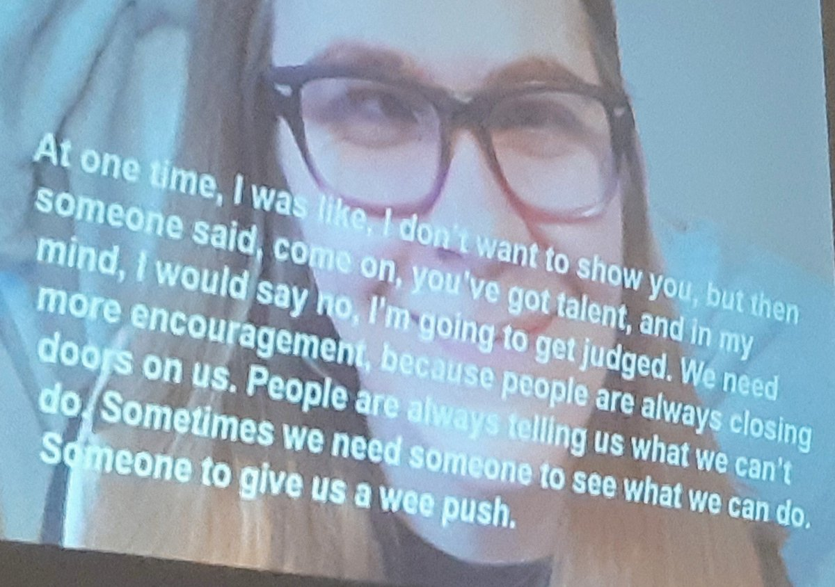 Stop focussing on what we cant do and take notice of what we can do. From a talented young photographer with some need of support to live life in her way. #peopledoingitforthemselves @TLAP1 @NCAG17 #makingitreal