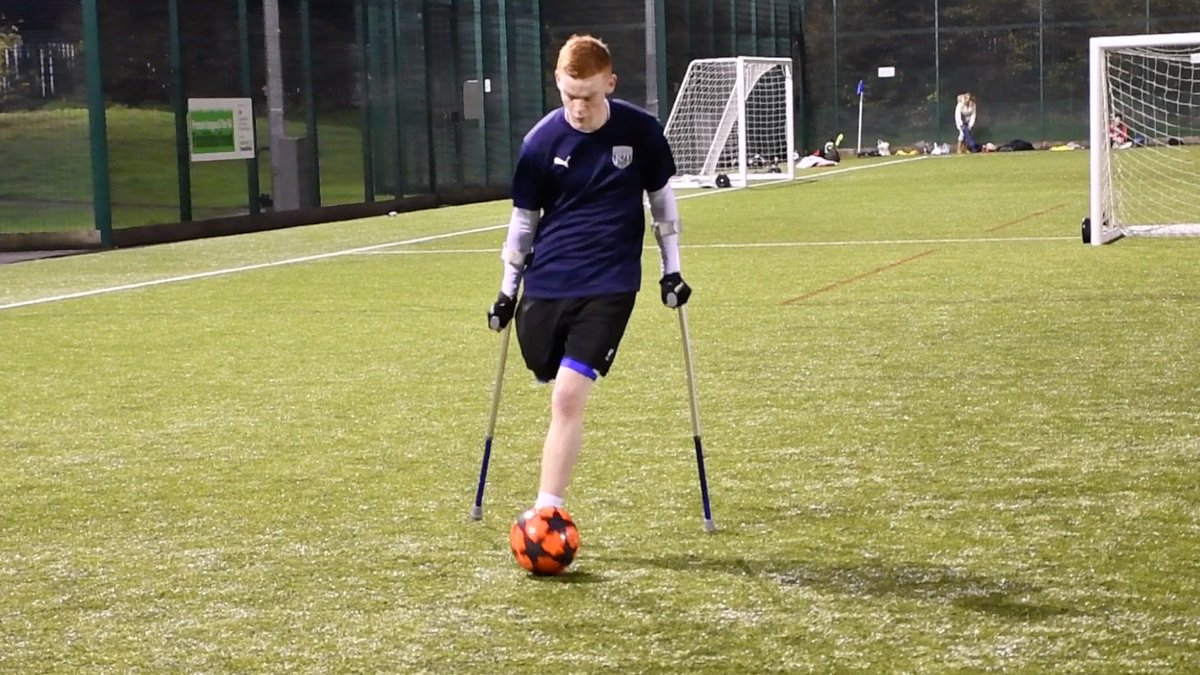 Never think negative, always think positive. @WBAAmputees are providing footballers with a second chance in the sport. More info ➡️ bit.ly/wba-amp #EFLDayofDisabilities | #DayofDisabilities | #WBA