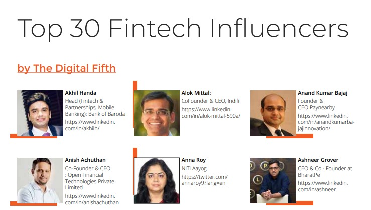 #NITIAayog is proud to share that Adviser @annaroy9 has featured in the list of top 30 #Fintech Influencers of India! #SheEmpowersIndia Ms Anna Roy has been driving various NITI initiatives in the space of Frontier Technology including #AIForAll.