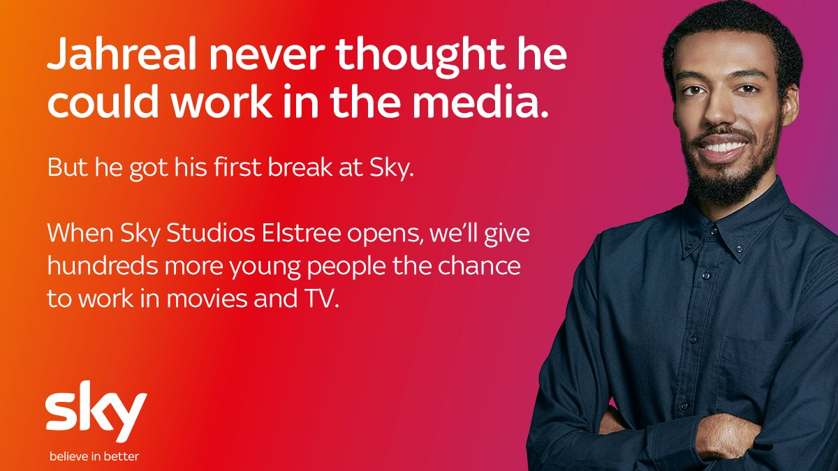 .@SkyCorporate has announced plans to build a new 32-acre TV and Film studio at Elstree, injecting £3 billion into Britain's creative economy and creating 2,000 new jobs in the process #SkyStudios #ad