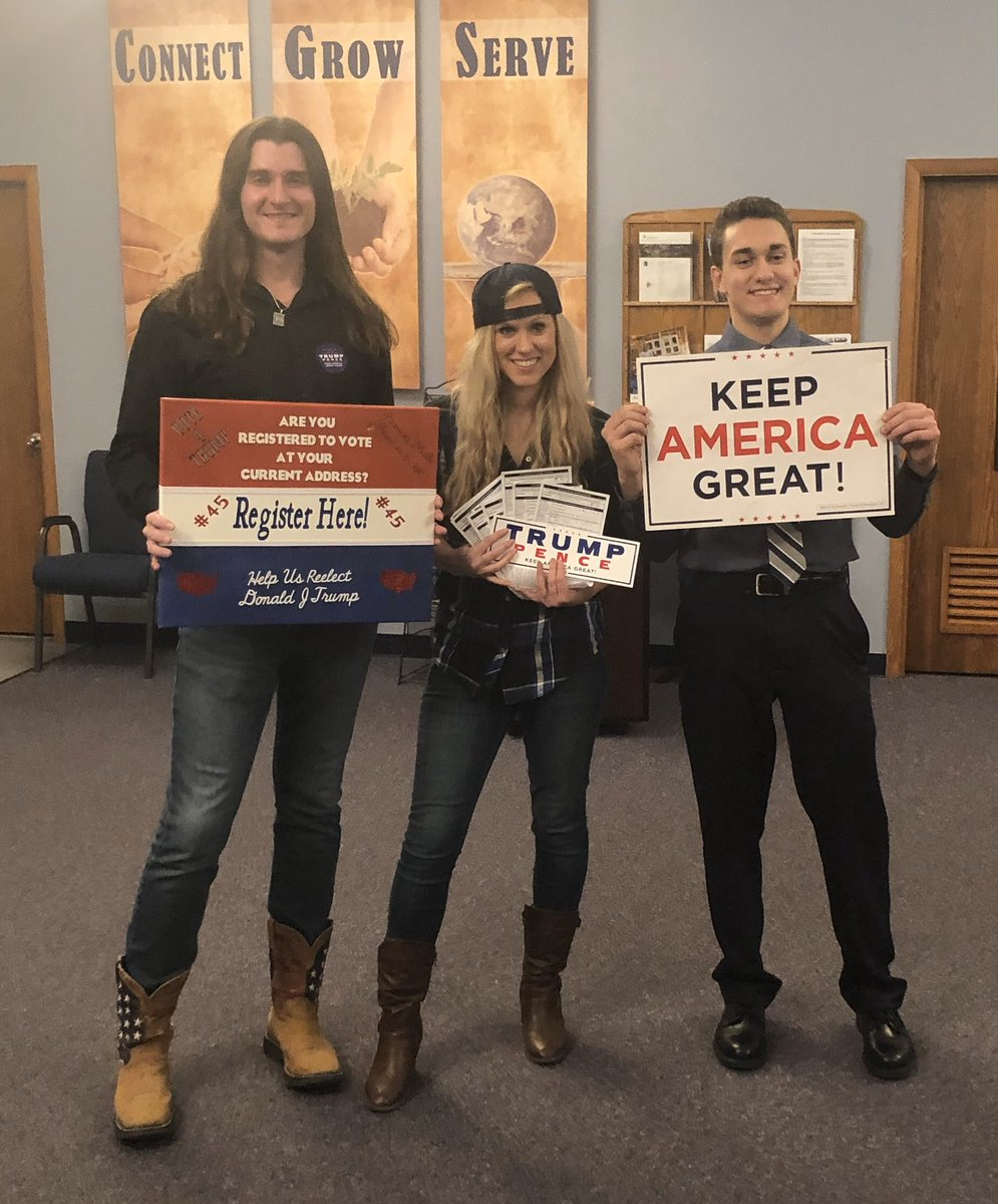 Congratulations to @witzke_lauren for registering 10 new Republican voters!   Voter registration is how we win in 2020.  #TuesdayThoughts #GivingTuesday<br>http://pic.twitter.com/c2JYcGUQYH