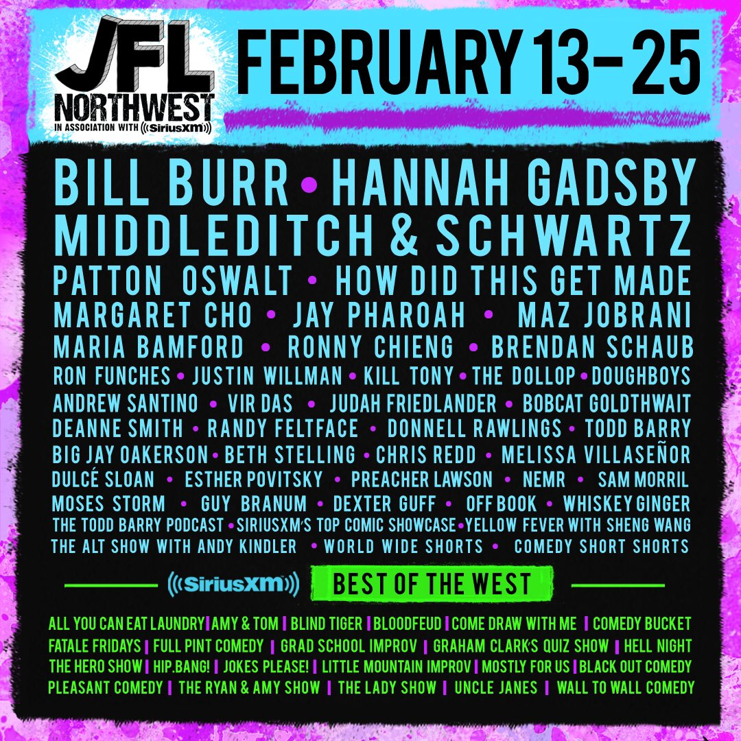 2020 Just For Laughs Comedy Festival.Jfl Northwest S Tweet Jfl Northwest Returns Feb 13 25