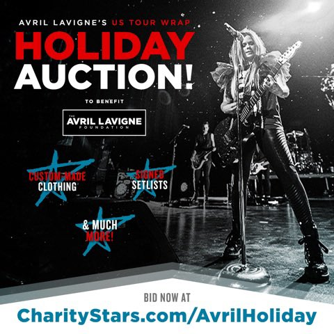 It's #GivingTuesday & we're grateful for all of you. Please consider bidding to help us #FightLyme  You can win clothing custom-made for Avril, personally dedicated Fender guitars & more! Avril gifts make the BEST holiday gifts for those you❤