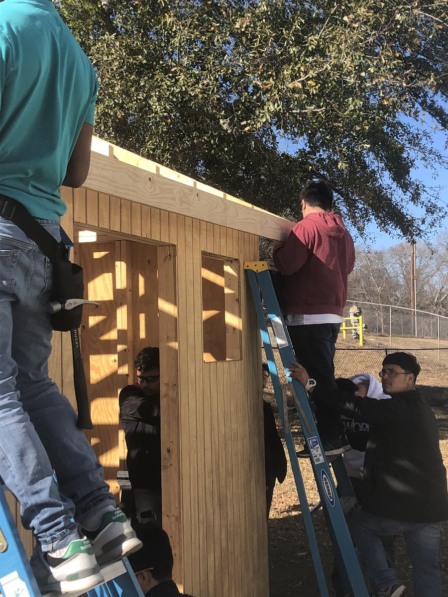 Fascia board is going on the shed today.