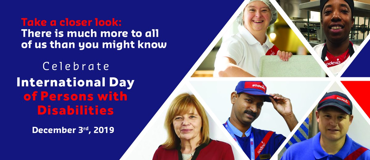 Today is the #UnitedNations International Day of Persons with Disabilities. Sodexo has made a global commitment that by 2025, 100% of our workforce will have access to initiatives supporting the inclusion of people with disabilities. https://bit.ly/34JWwb2 #IDPD2019