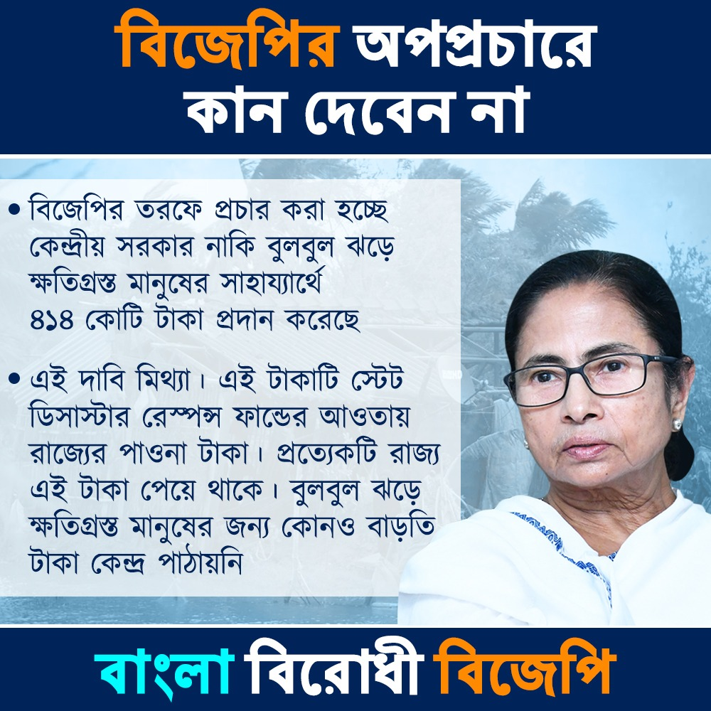 #bulbulupdate #bulbulcyclone #Bulbul #Bengal #ShameOnBJP এবার বুলবুল নিয়ে বিজেপির মিথ্যা প্রচার শুরু হলো সোশ্যাল মিডিয়ার পোষা তোতা পাখিদের দিয়ে। #TMCS @AITCofficialpic.twitter.com/SvIM5GvGyu