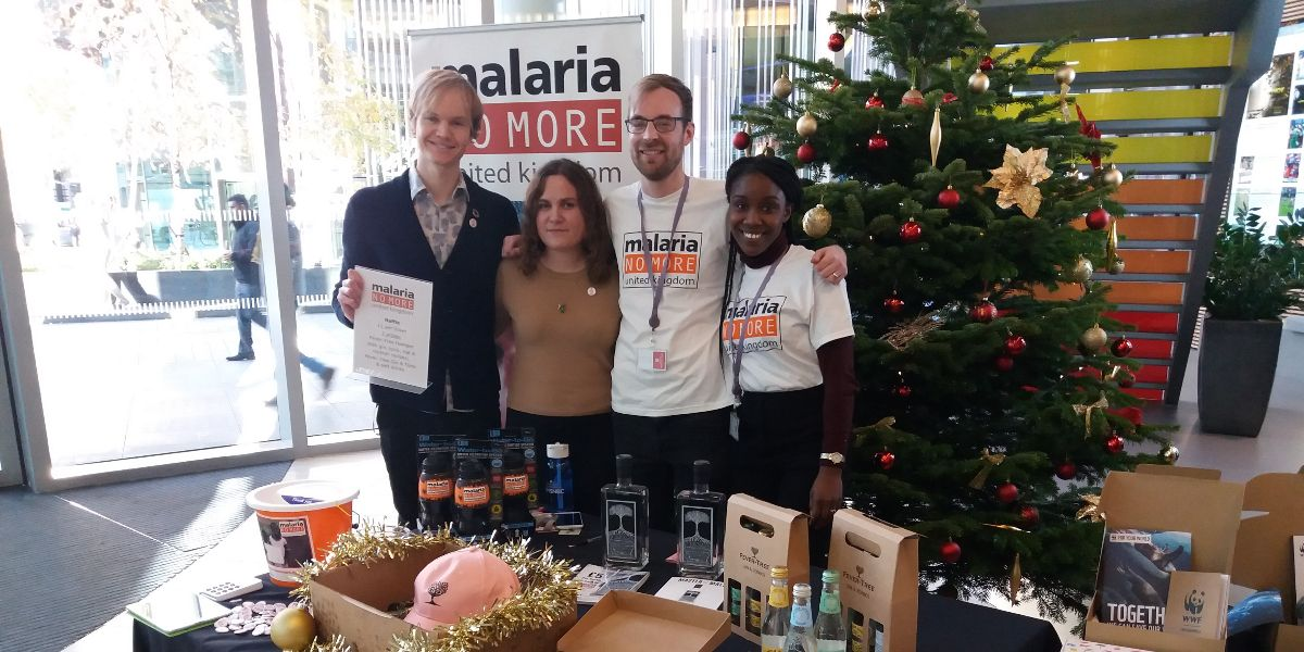 We had a great time today with the @MalariaNoMoreUK team raising awareness of our global charity partnership, recruiting our people for the next phase of the campaign and fundraising for the cause! #endmalaria #SocialImpact