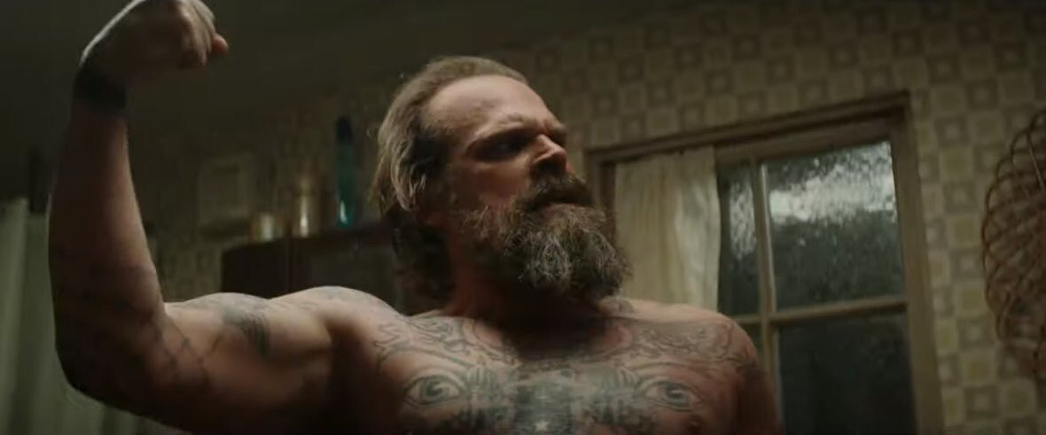 I want tattooed David Harbour to beat the shit out of me pic.twitter.com/Aru5aQJiBy