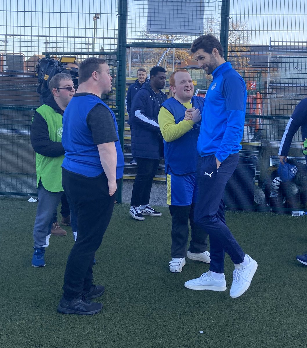 Thanks to @LaticsOfficial defender @charlie_mulgrew for helping to relaunch our @WembleyTrust #EveryPlayerCounts Disability Football Programme as part of #EFLDayofDisabilities efltrust.com/every-player-c…