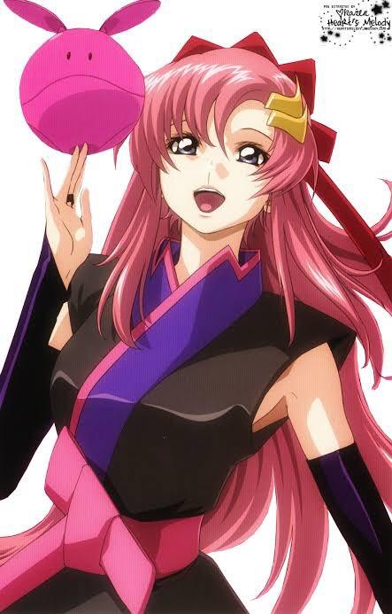 ピンクの髪似合うのは、ラクスとララだよな。それ以外思いつかん、てか、いる?