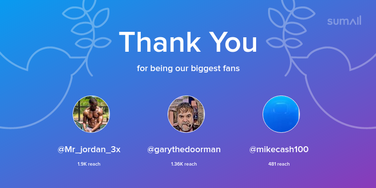 test Twitter Media - Our biggest fans this week: Mr_jordan_3x, garythedoorman, mikecash100. Thank you! via https://t.co/SPozDQpAuj https://t.co/MtMMa07peb