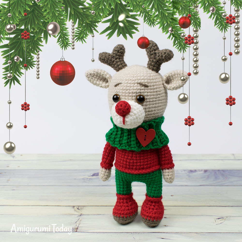 Amigurumi Christmas Teddy Bear Free Pattern – Amigurumi Free ... | 1000x1000