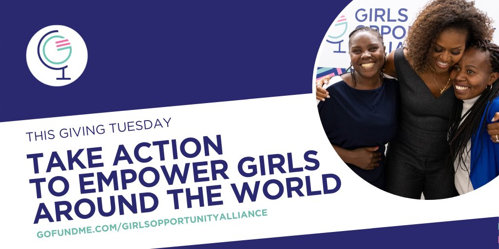 On #GivingTuesday, I'm proud to support the @girlsalliance and grassroots leaders who are working to empower girls around the world. I hope you'll donate today: gofundme.com/girlsopportuni… ❤️