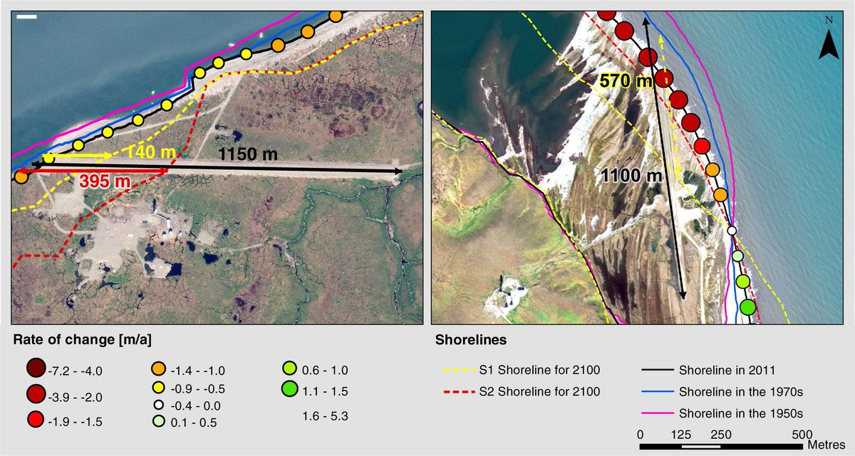 Did you attend the #ASM2019 Coastal and Nearshore session? Your post-session read BTYB shoreline change in the Yukon + threats for cultural sites, infrastructure, and travel routes  https:// buff.ly/2OutTJc    <br>http://pic.twitter.com/2YDH2PdYtM