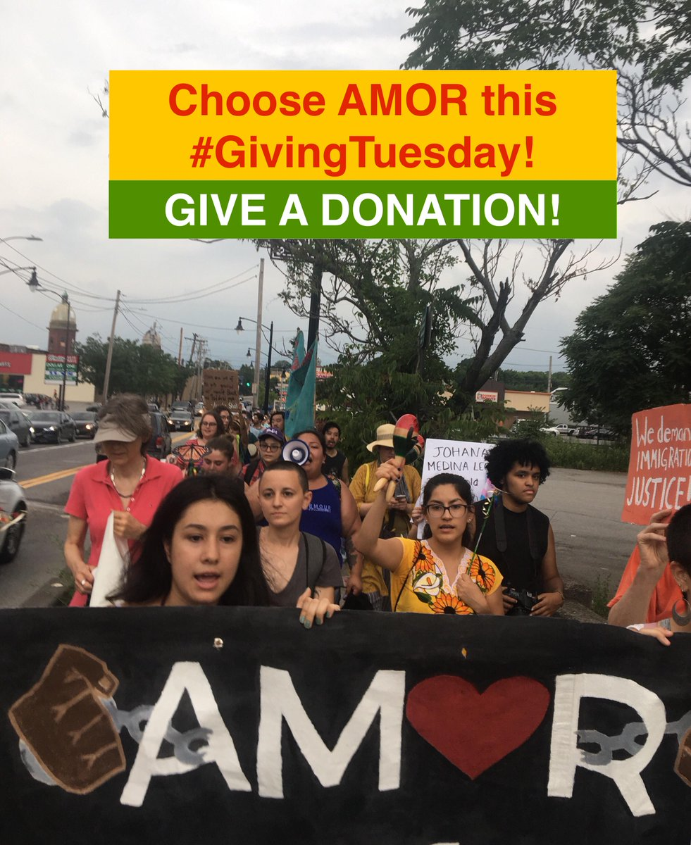 Choose AMOR this #GivingTuesday GIVE A DONATION TO AM❤️R, an organization that builds community power in RI. Your gift helps us support one more family unjustly targeted by ICE. Can we count on you? #StopDeportations #AbolishIce #keepfamiliestogether #ShutDownICE #ShutDownWyatt