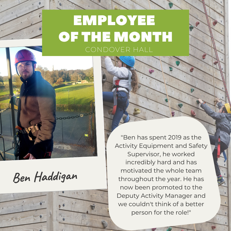 We celebrate Condover Hall's Deputy Activity Manager this month!  The team has been talking about Ben for months and it was finally time to shine a light on his amazing achievements 😄 https://t.co/4NMv6nftID