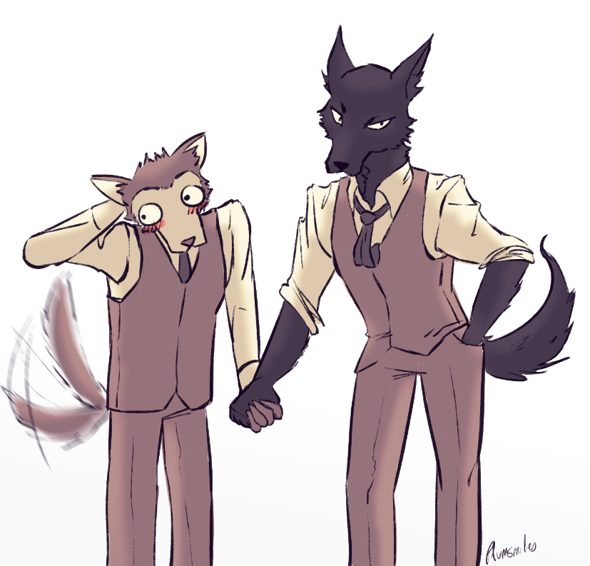 hi im not dead I offer some #beastarsfanart of these two background wolves (theyre boyfriends) <br>http://pic.twitter.com/vQ2e8k3m1z