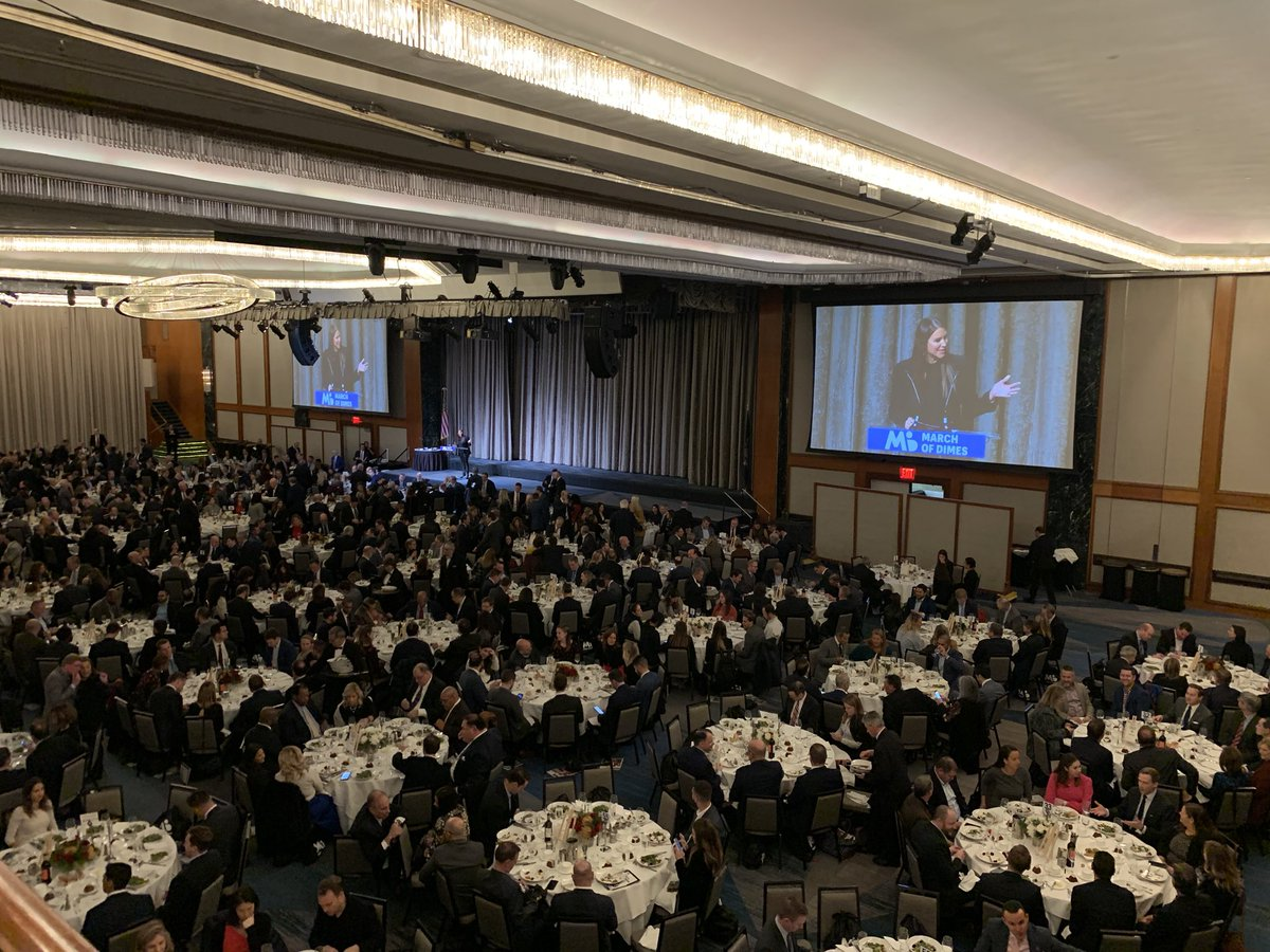 Thanks to the generosity of the sports & media communities, today's event will raise over $1M for the fight to reduce premature birth, affecting almost 21,000 babies born in New York last year alone.  #SportsLuncheonNY