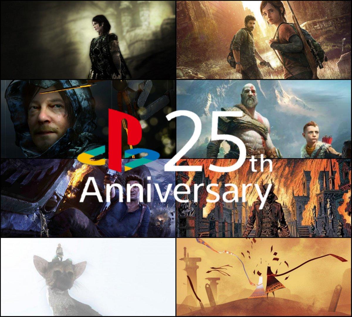 25 anos de PlayStation, foi onde eu me apaixonei por games.  1- Shadow of the Colossus 2- The Last of Us 3- Death Stranding  4- God of War 5- Uncharted 4 6- Bloodborne  7- The Last Guardian  8- Journey 9- Uncharted 2 10- God of War(2005)  Quais seus 10 games favoritos da Sony? <br>http://pic.twitter.com/r9mj4U1Znk