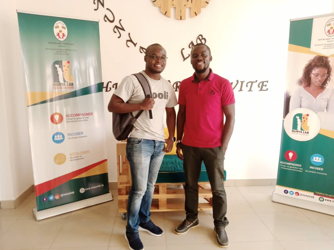 Merci à Seti AFANOU,Google lead  Developper Group Lomé, pour sa visite et sa proposition de collaborer avec #NunyaLab sur un programme de formation en développement d'application mobile Android et Firebase. @FirminSef @DogbeVictoire @faiejtogo  @PnudTogo https://t.co/gfvxlvaj0U