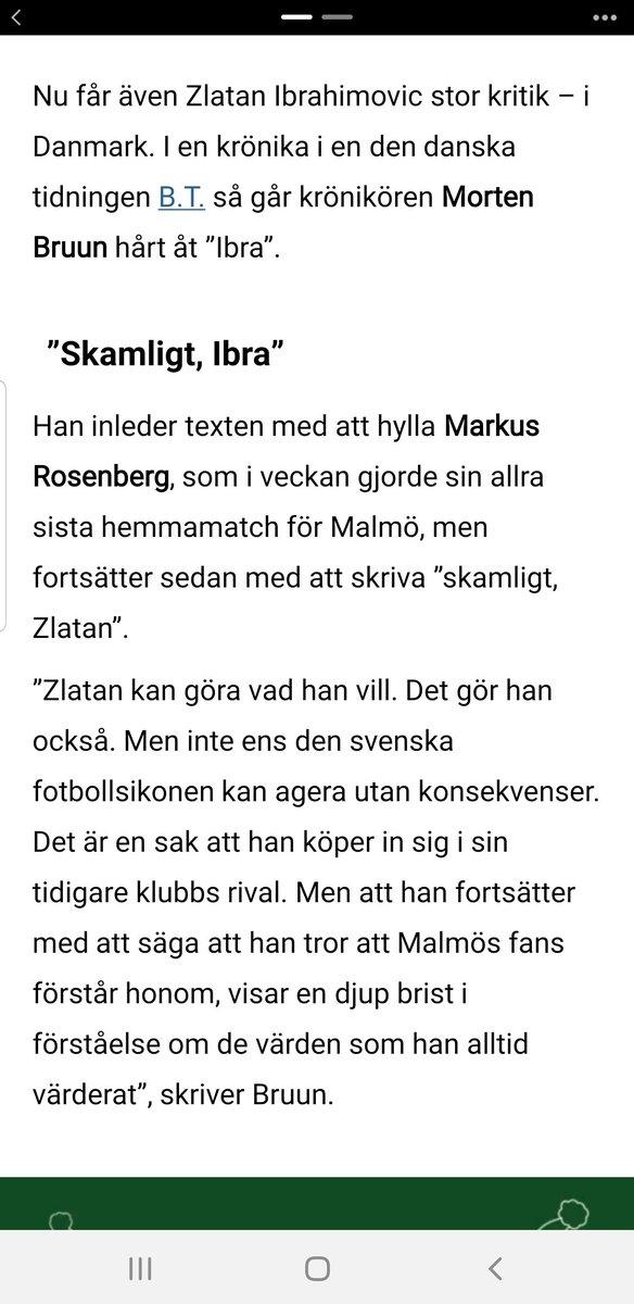 Till o med dansken har tröttnat på Zlatan