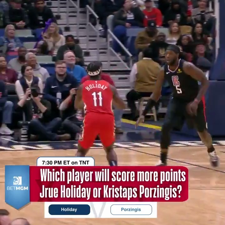 Which player will score more points in tonight's matchup: Jrue Holiday or Kristaps Porzingis?  👀  Primetime Picks presented by @BetMGM ➡️ https://t.co/v3zKu9bsYQ https://t.co/WTrBBYeNNu