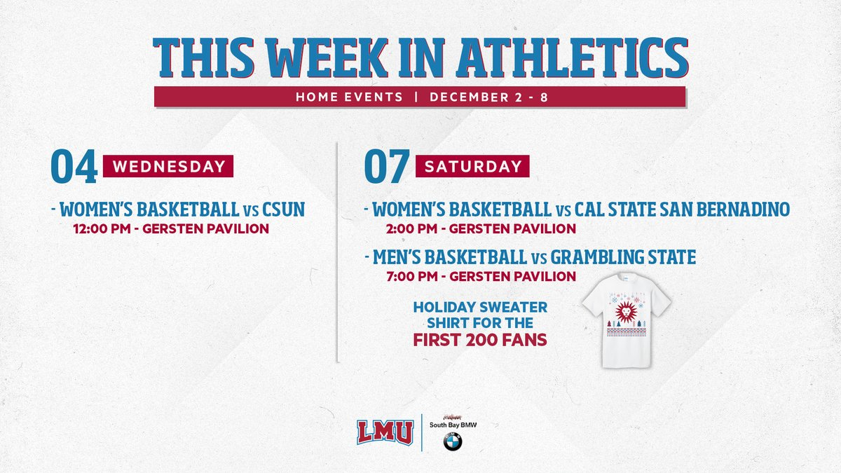 This Week in Athletics 🗓 We've got a full slate this weekend with @lmulionswb & @lmulionsMBB at home! 🏀 #JoinThePride