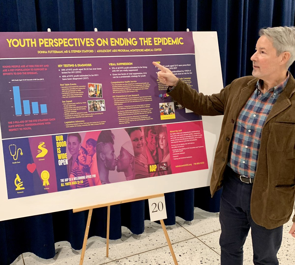 We're in Albany today with colleagues from around the state united in Ending the Epidemic! Proud to present the AAP's work to improve the HIV Care Cascade for youth.  #ETE2019 <br>http://pic.twitter.com/lE8L8hVbLz
