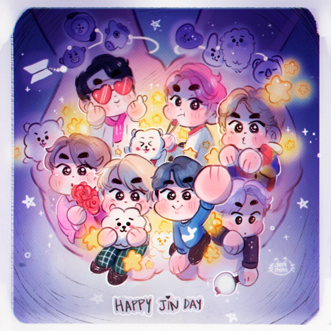 💖✨HAPPY JIN DAY ✨💖 #JINDAY #HappyJinDay #TonightAndAlwaysWithJin #JinOurHappiness #소중한_이밤_우리의별_석진 #SilverVoiceJin #JinOurDecemberStar #TonightYoureOurStar #OurFlowerofDecember @BTS_twt