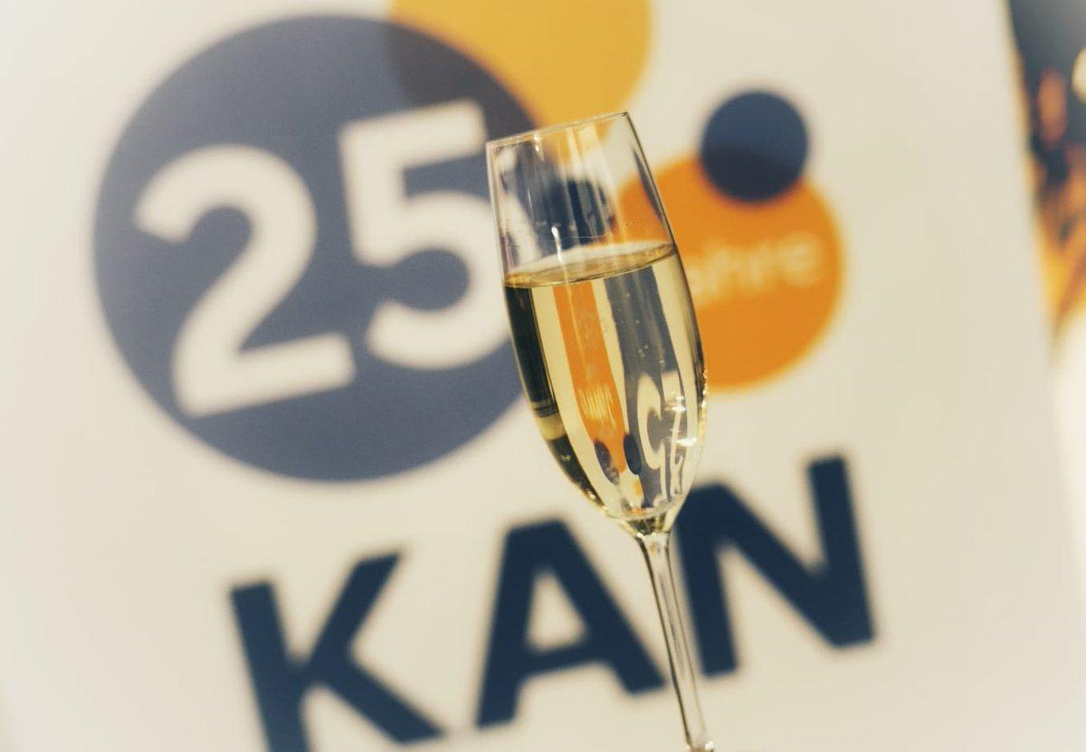 Celebrating 25 years of @www_KAN_de - our partner in @EUROSHNET network 🥂