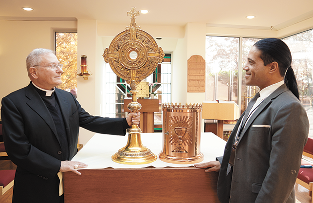 test Twitter Media - The Sisters of St. Francis donate tabernacle and monstrance for the celebration of the 525th anniversary of the first Mass in the New World.  Read more: https://t.co/pgv1meBZuW https://t.co/8Ro7HuG37M