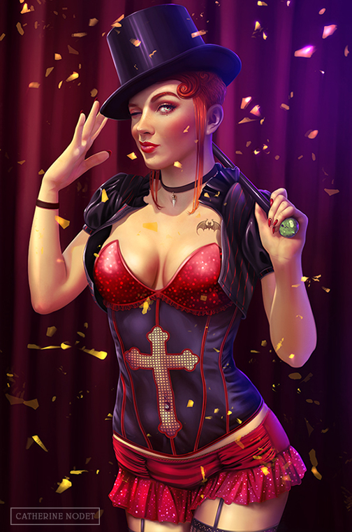#Chastity as burlesque dancer commissioned by Stacey G.  #ChastityMarks #character #womenincomics #vampire #illustration<br>http://pic.twitter.com/o2BG0etwdD