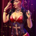 Image for the Tweet beginning: #Chastity as burlesque dancer commissioned