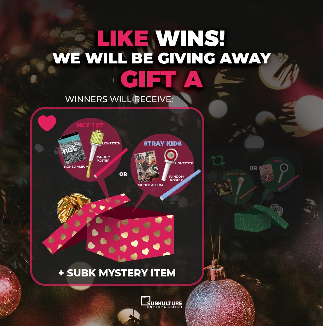 📣 The results are in and GIFT A wins 👏 Inside the winning gift box lies K-pop boy group bundles 😝 For a chance to win a #NCT127 💚 or #StrayKids 💙 bundle, check out our rules and terms & conditions before entering 🎁 #SubKUnwrapped #SUBKHOLIDAYGIVEAWAY19 https://t.co/DUukIMXWlc