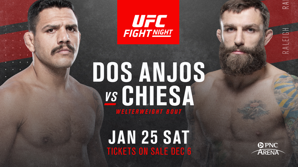 What a card 👏  🇺🇸 #UFCRaleigh adds @RdosAnjosMMA vs @MikeMav22 for Jan 25!  ➡️ Tickets on-sale Friday!