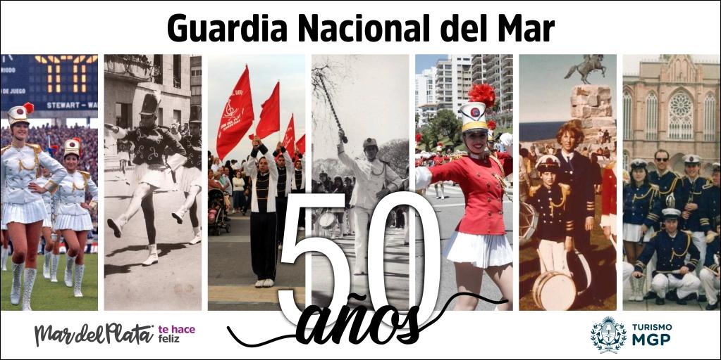 #AGENDA | ¡La @guardiadelmar cumple sus primeros 50 años! 🎂 Y para celebrarlo, habrá un importante #desfile musical y coreográfico del que también formarán parte sus exintegrantes 🥁 ¡No te lo pierdas! 🎟️ #GRATIS 📅 Dom. 8/12 ⏰ 17:00 hs. 📍 Boulevard Marítimo y Rivadavia