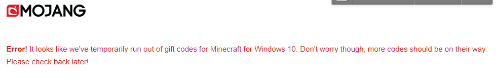 minecraft free codes