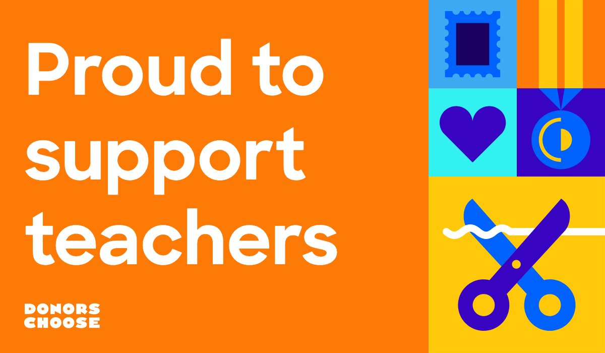 """Donors, head to our design playground and download your """"Proud to support teachers"""" graphic and encourage your friends to support a classroom, too. There's still time to get our #GivingTuesday  50% match on your donation.   http://playground.donorschoose.org/"""