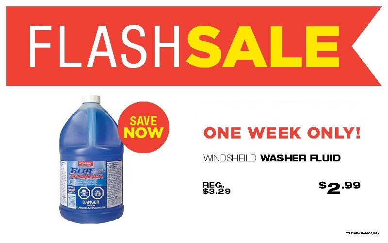💥FLASH SALE💥 Washer Fluid is a #musthave this time of year! Ours is locally made. And we're local. It's a match made in local heaven. Now ONLY $2.99 each. Stop by or shop online: https://t.co/UZnmDLrNSs #makeitbetter #winterdriving #stockupforwinter #locallymade #shoplocal https://t.co/18XRJBJi9y