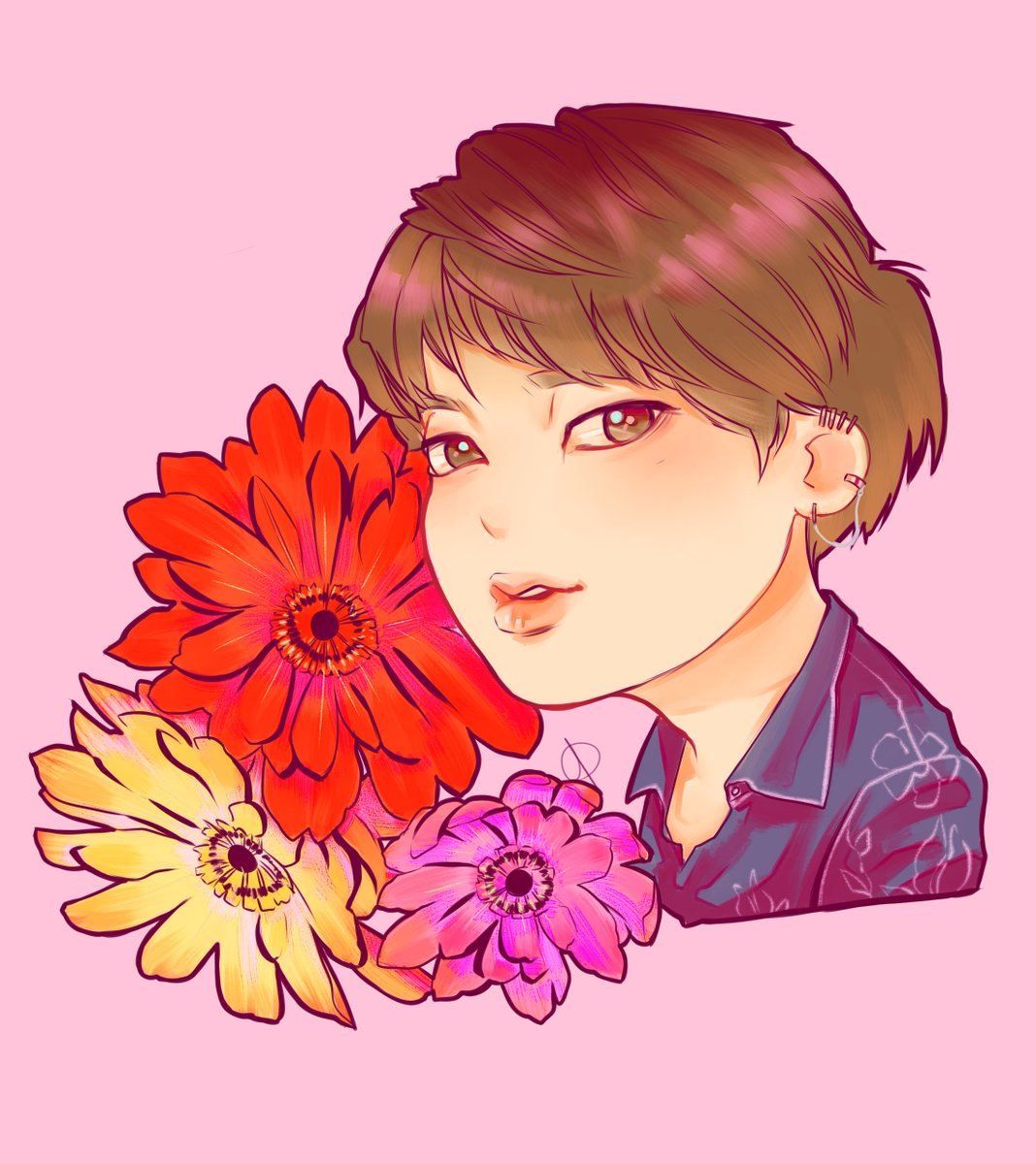 I barely touched my tablet in the past couple of days as I am busy packing so heres the only finished drawing I made of our Worldwide Handsome~ 🌸Happy Birthday to the prettiest flower!🌸 #JINDAY #HappyJinDay #TonightAndAlwaysWithJin #JinOurDecemberStar #OurFlowerofDecember