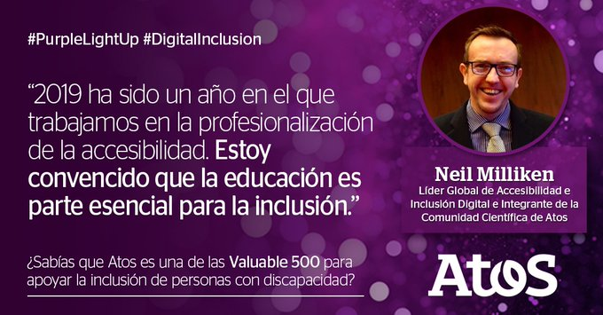 En el día Internacional de las Personas con Discapacidad nos sumamos al movimiento #PurpleLight...